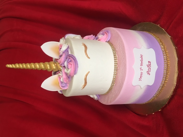 Unicorn Pink and Lavender Tiered