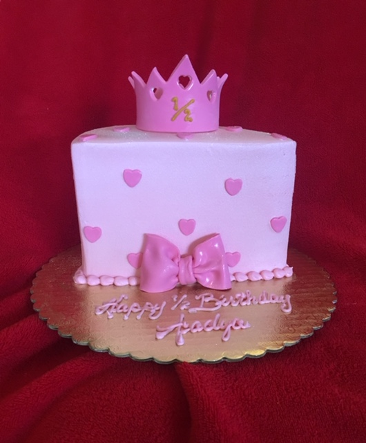 Half Birthday w Bow and Crown