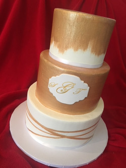 Painted Gold with Monogram