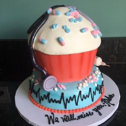 Medical Cupcake Cake