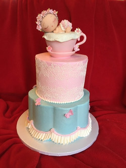 Teacup Baby Shower in Lace