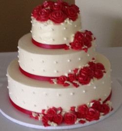 Simple White with Red Roses
