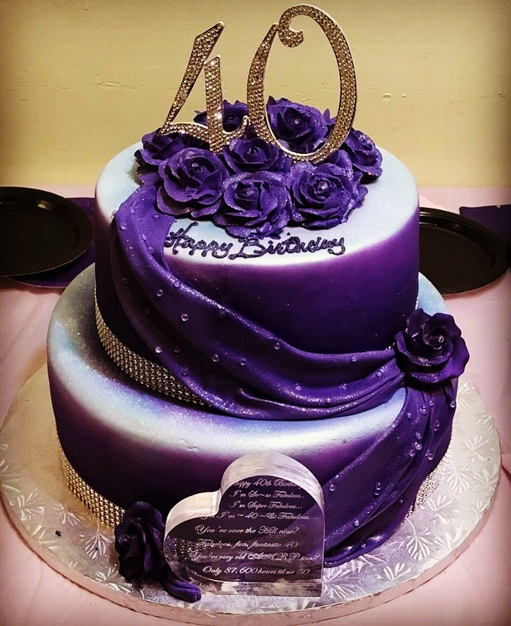 purple 40 fondant cascade