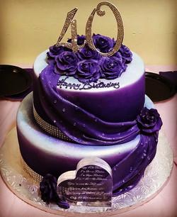 purple 40 fondant cascade