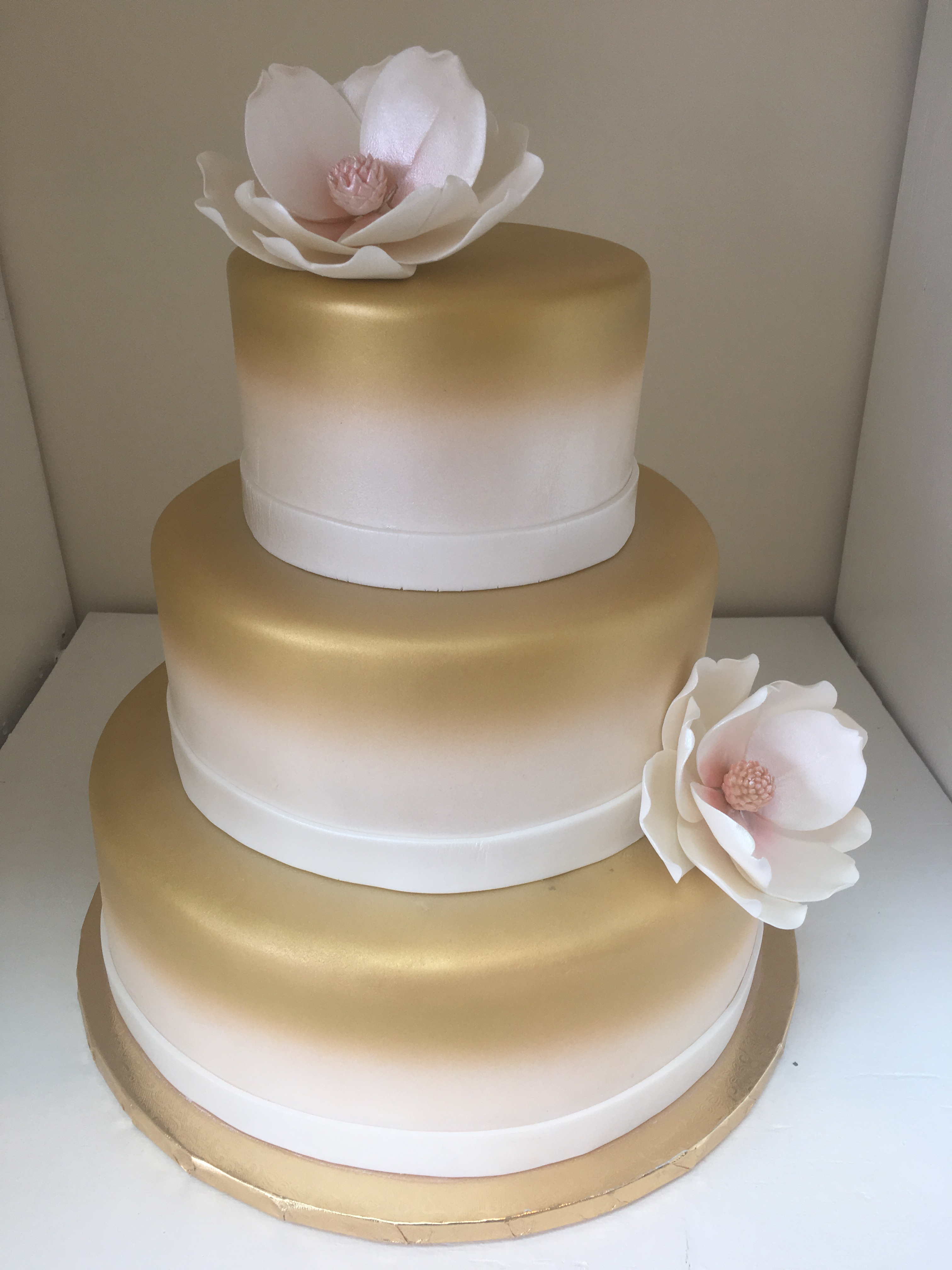 Gold Metalic with Peonies