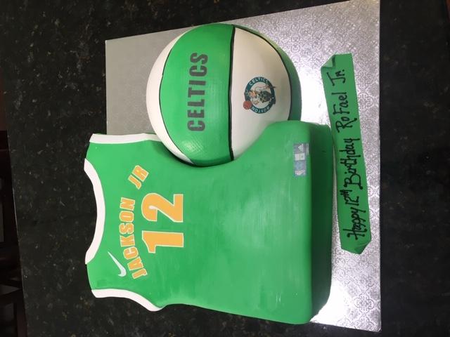 Celtics Jersey and Basketball