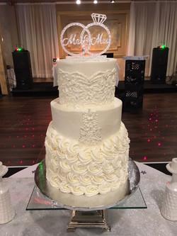 Gabrielle & Micheal Wedding Dress Cake