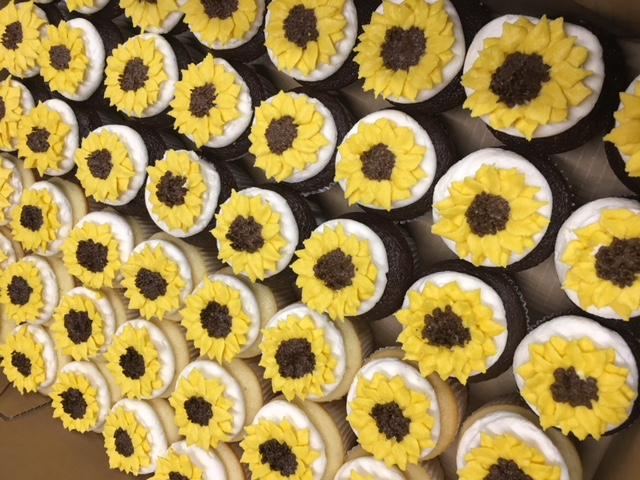 Wedding Sunflower Cupcakes