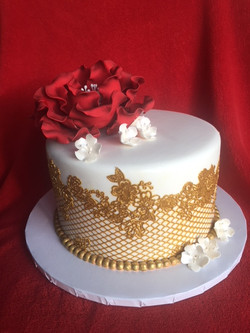 Elegant Gold Lace