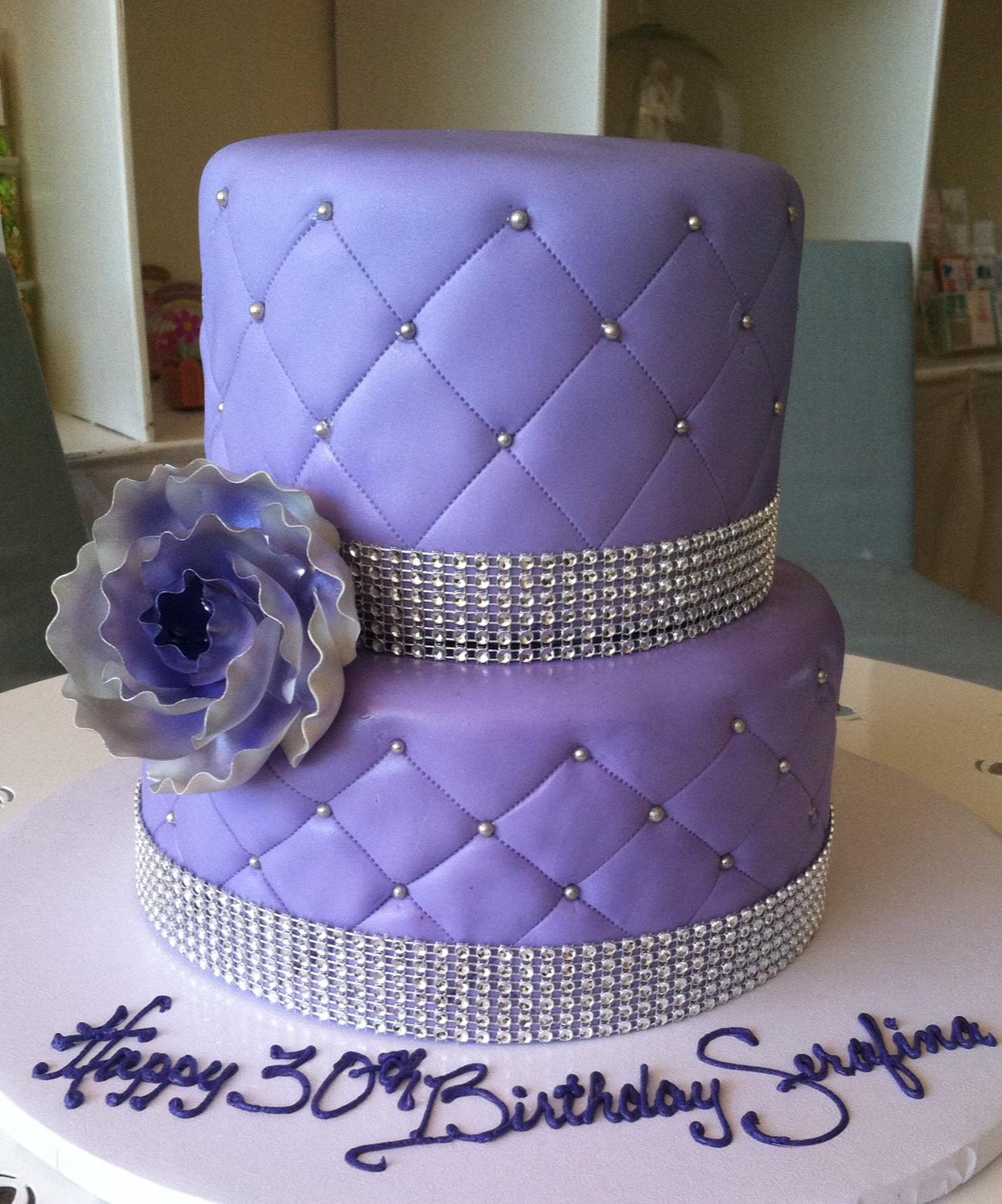 lavender quilt 2tier
