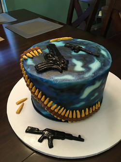 Ammo grooms cake