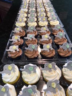 Baby Elephant Cupcakes