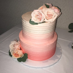 Ombre Shower in pinks and peach