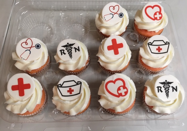 Nurse Grad Cupcakes