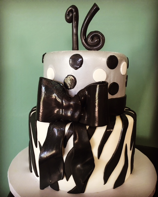Sweet 16 Zebra n Dots