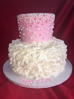 Pearls and Fondant Ruffle