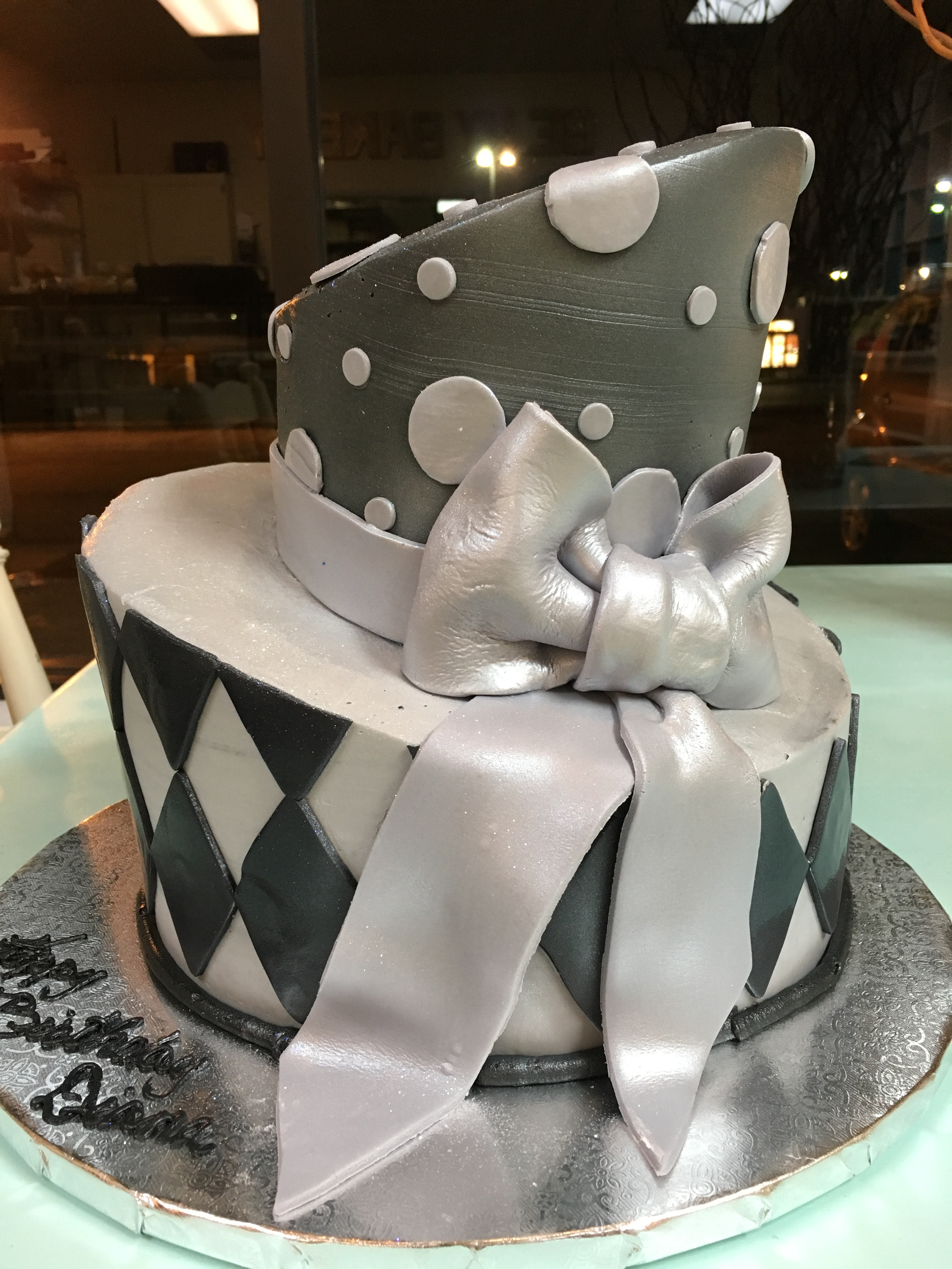 Black and Silver Topsy Turvy
