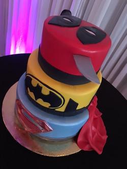 Maria's Superhero Grooms cake