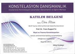 Prof. Dr. Franz Ruppert - Konstelasyon Atölye Çalışması - 2013