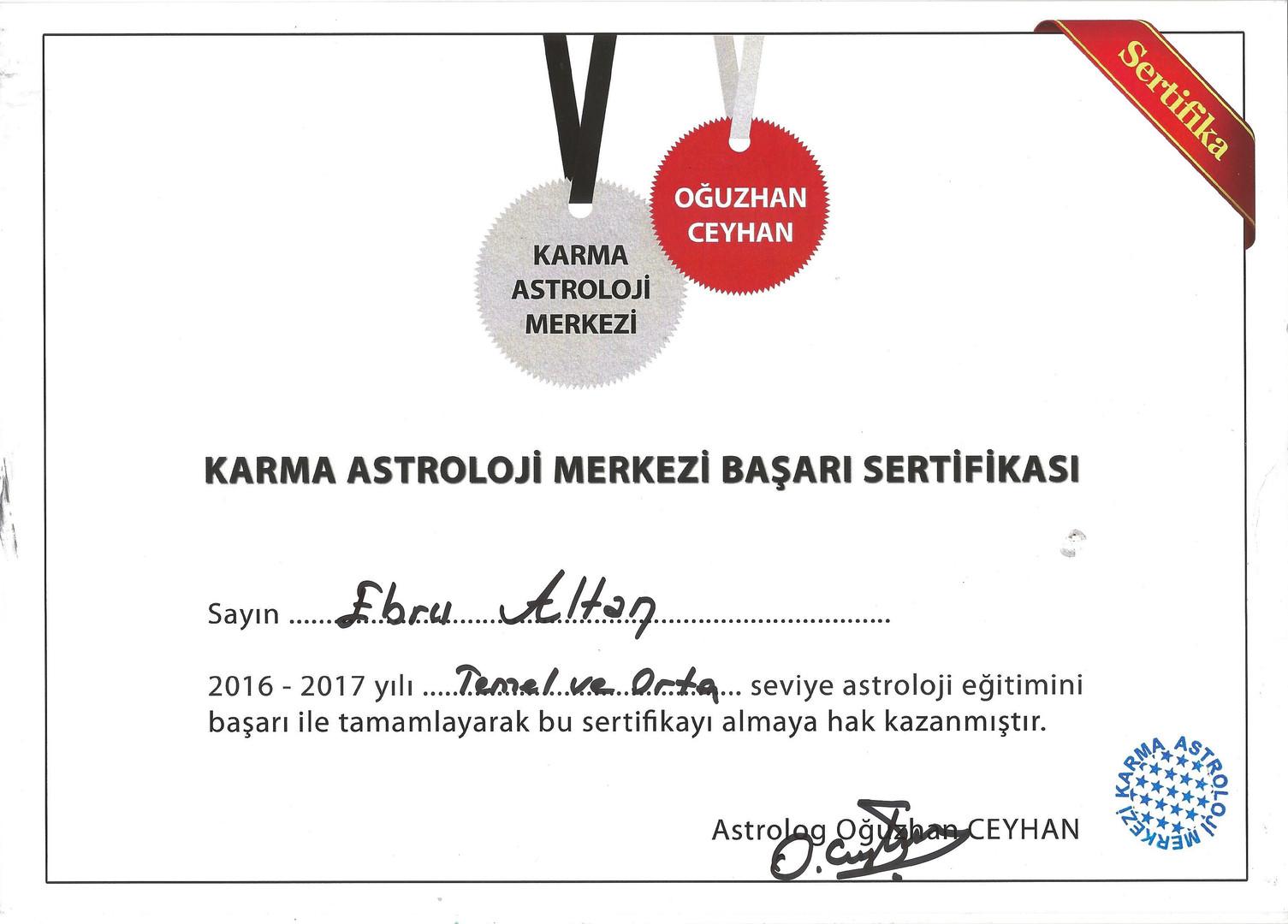 Oğuzhan Ceyhan - Temel ve Orta Seviye Astroloji Eğitimi - 2017
