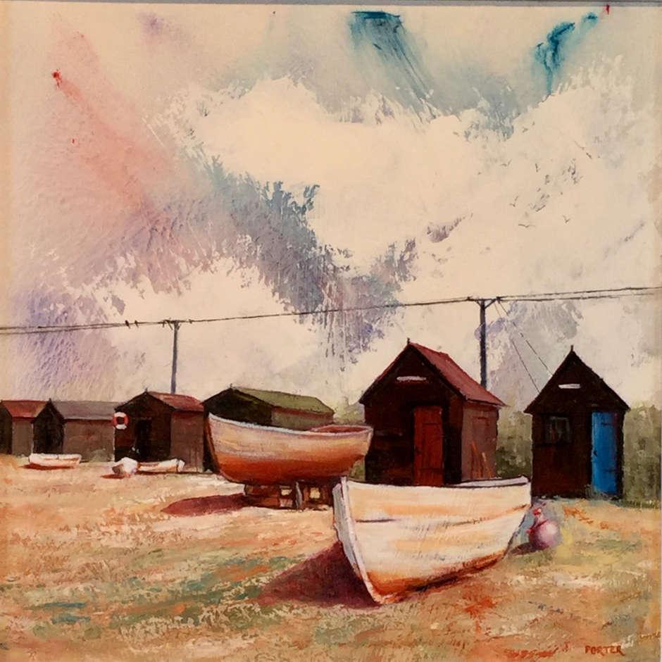 Black shore. Southwold. Trevor Porter