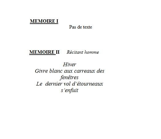 mémoires 1