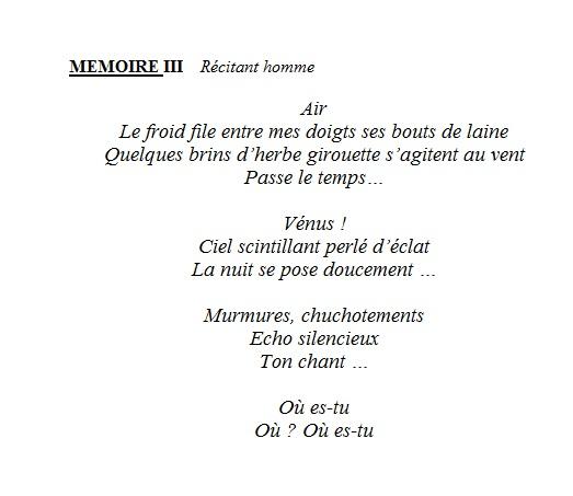 mémoires 3