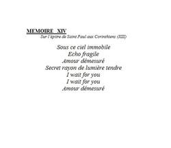 mémoires 14
