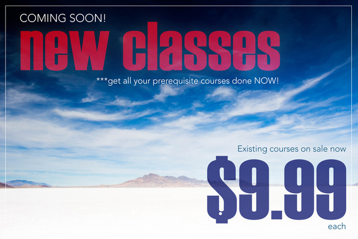 COMING SOON | New Advanced Courses. Prep Now!