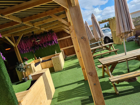 We've got a brand new beer garden with booths