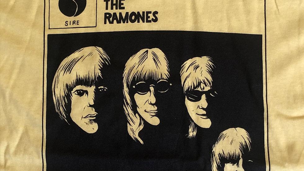"""""""With The Ramones"""" Tshirt, yellow"""