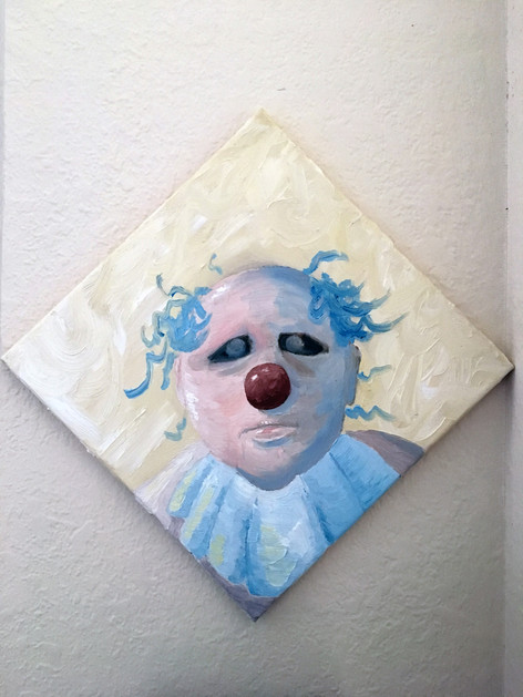 Clown for Nora, Oil on Canvas, 12x12.JPG