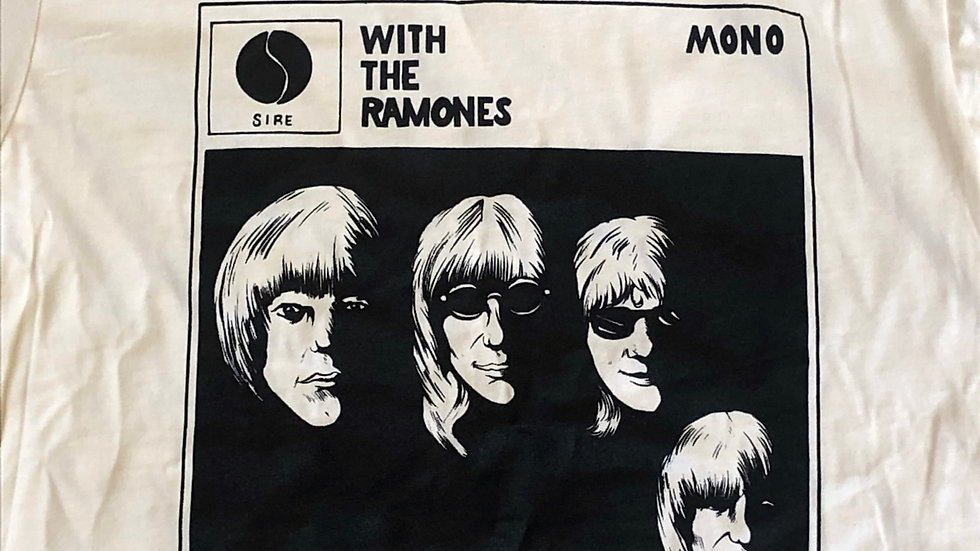 """""""With The Ramones"""" Tshirt, ringer"""