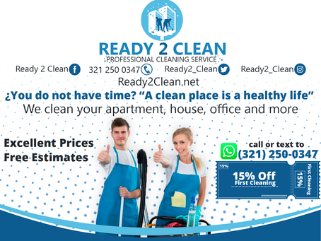 Ready 2 Clean offering quality cleaning in the Orlando and Kissimmee, Florida area.