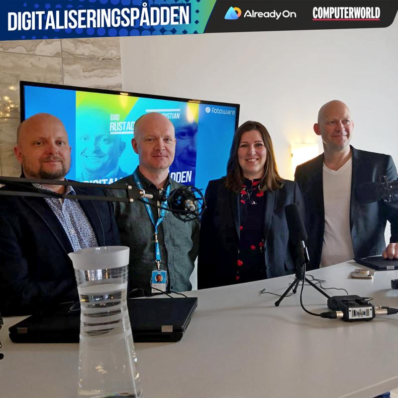 Fra v. Dag Rustad, Jon Jahren, Anne Gretland og Jens Christian Bang