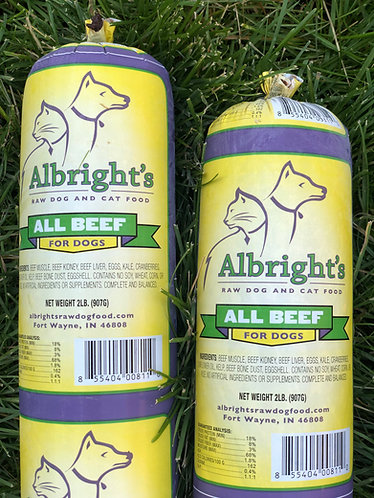 Albright's Raw All-Beef Dog Food