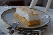 French Apple Tart with Meringue Topping