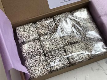 Postal Delicious Vanilla Lamingtons
