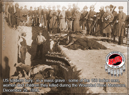 The Wounded Knee Massacre, Mass Native American Grave