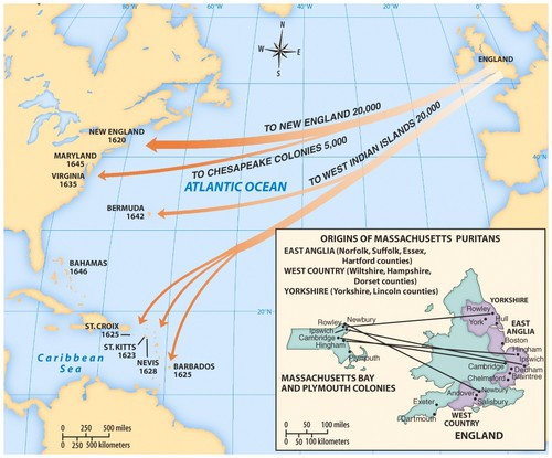 Pilgrim Migration Map