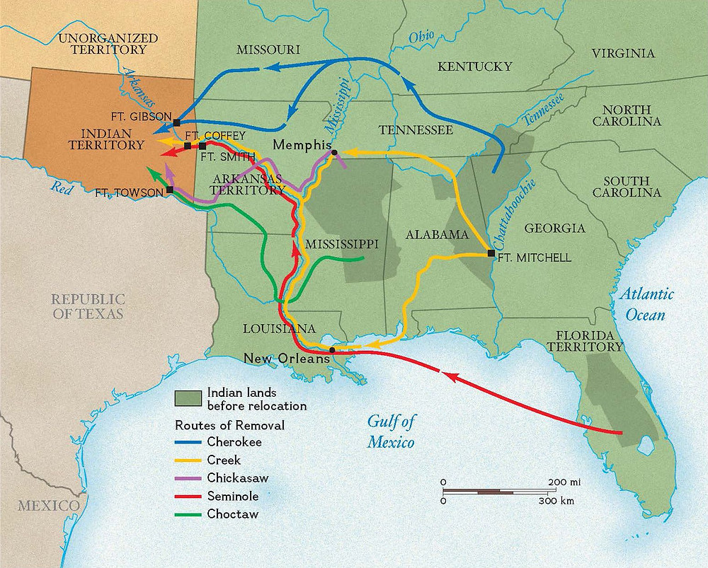"""The Indian Removal Act aka """"Trail of Tears"""""""