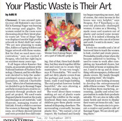 Plastic waste upcycling skill development and women empowerment nt