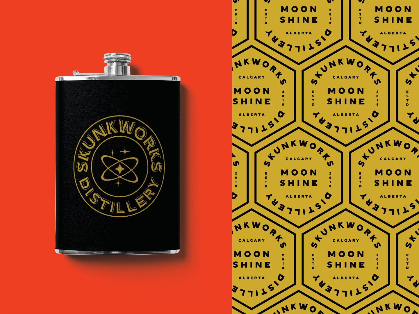 Skunkworks Flask & Hex Pattern