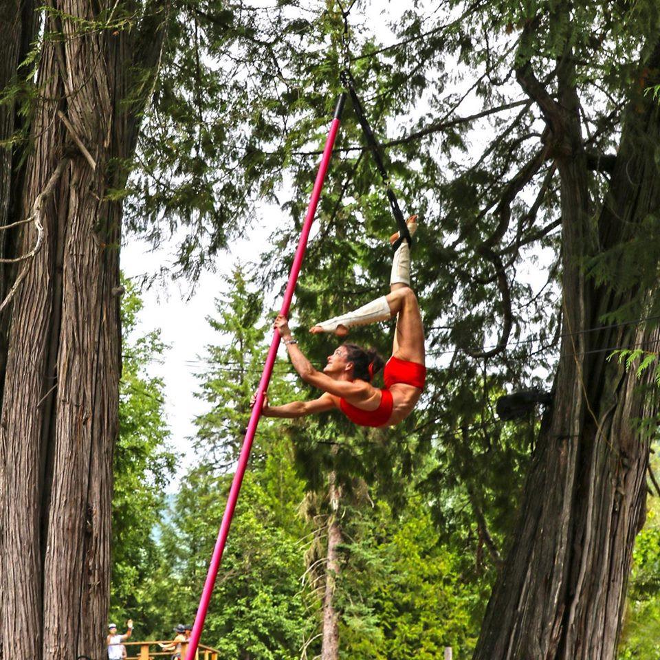 Flying Pole Performance at Shambhala 2019