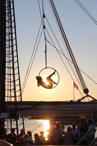 Aerial Hoop Performance at Tall Ships 2017