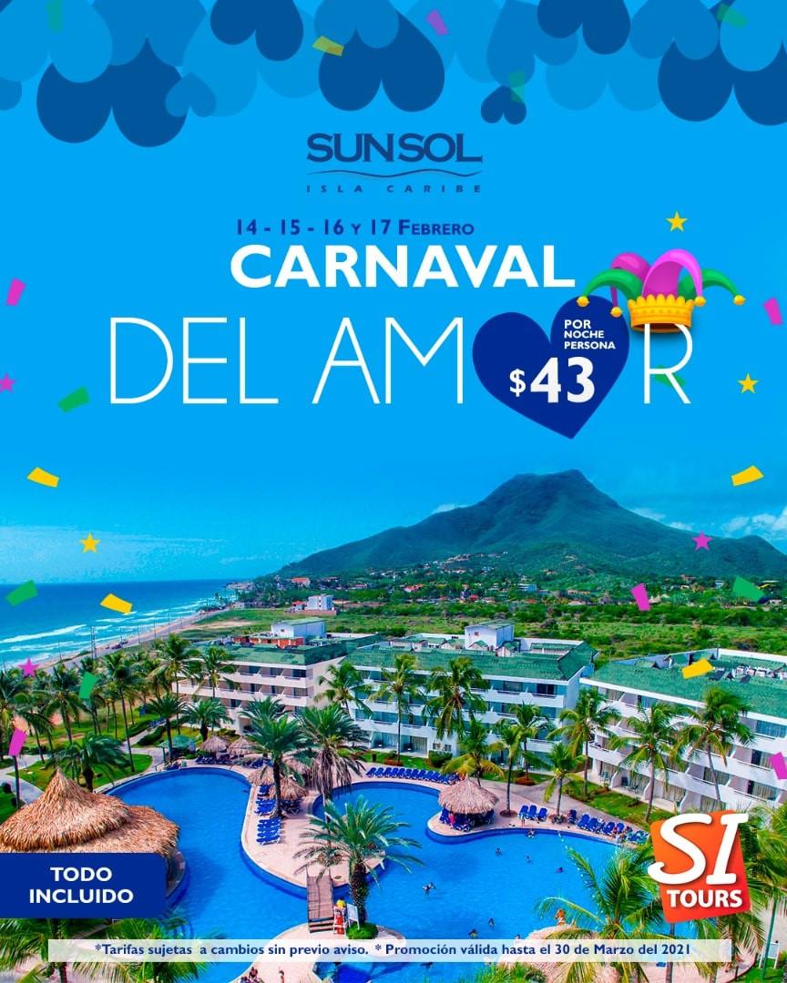 sunsol isla caribe carnavales isla de ma