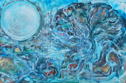 Arbol, luna y agua de vida