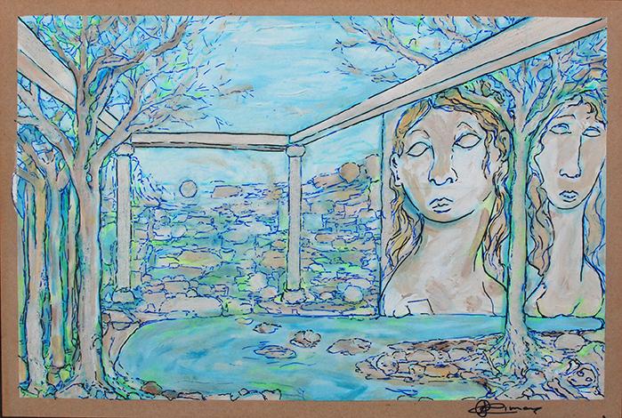 Laguna en el jardin