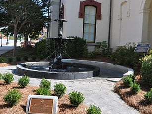 DAR fountain at Historic Cabarrus County Courthouse In memory of Cabarrus Black Boys