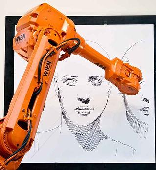 робот-художник на мероприятие
